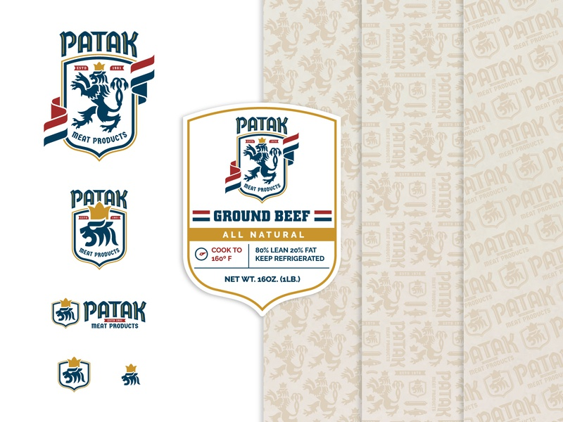 Patak Branding meat pattern icon branding label logo