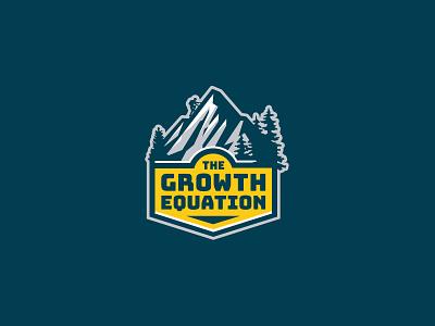 The Growth Equation logodesign ames jerron crest climb mountain logo