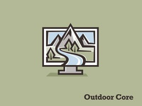 OutdoorCore scenery computer logo learning outdoor