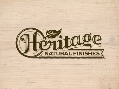 Heritage wood finish natural logo quality