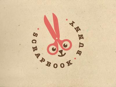 Scrapbook Bunny logo bunny rabbit animal scissors scrapbook
