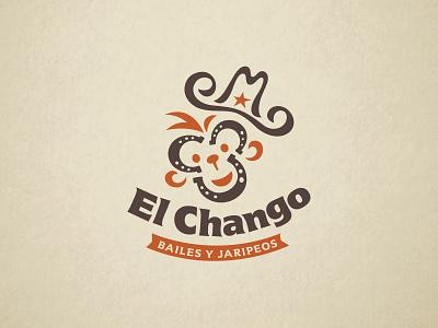ElChango logo design rodeo dance fun horseshoe western monkey logo