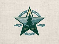 Old North shirt graphic scenery star pine tree