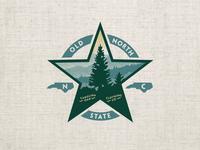 Old North shirt graphic scenery star pine tree