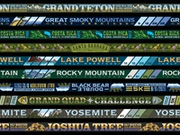 Marathon Medal Ribbons typography illustration design scenery adventure running race marathon ribbons