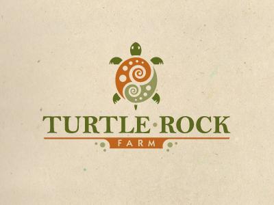 Turtle Rock Farm  turtle animal logo swirl