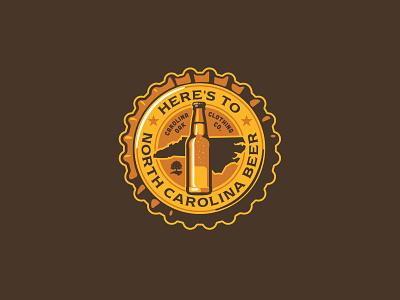 NC Local Beer shirt graphic logo bottle cap north carolina bottle beer