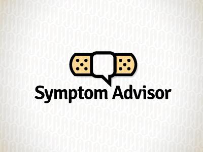 SymptomA bandaid speach bubble advise logo
