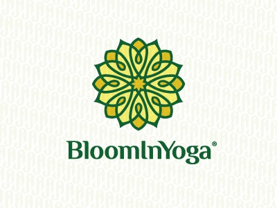 BloomInYoga mandala flower bloom line
