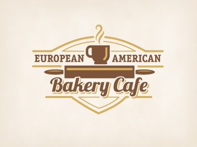 Bakery Cafe crest logo food coffee cafe bakery