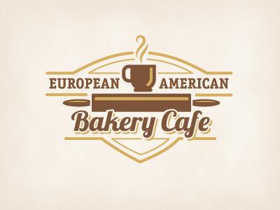 Bakery Cafe crest logo food coffee cafe bakery