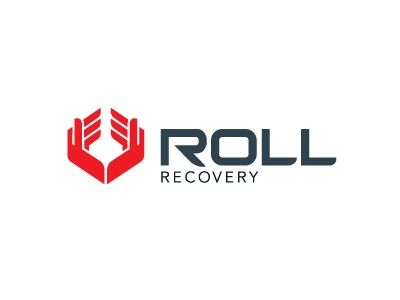Roll Recovery hands massage logo sporty