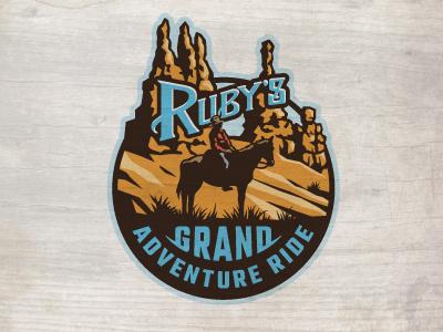 Grand Adventure Ride ames jerron logo crest horse bryce