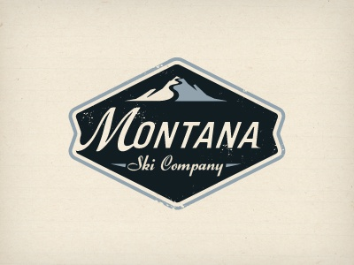 Montana2 crest logo mountain ski sport badge emblem enclosure