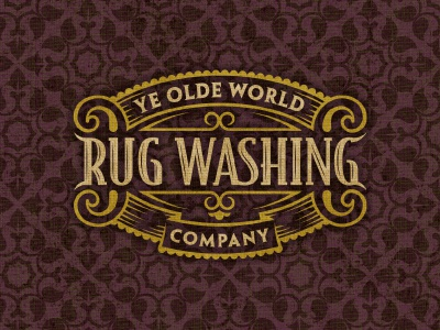 Rugwashing logo crest pattern