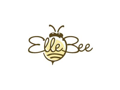 Elle Bee bee logo wings