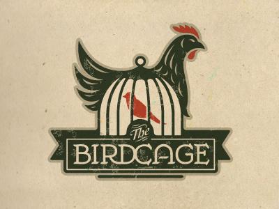 The Birdcage logo crest chicken bird cage badge