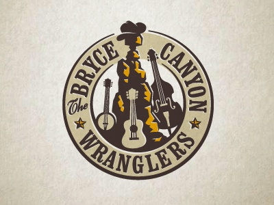 BryceCanyonWranglers enclosure ames jerron logo western bass banjo guitar bryce music