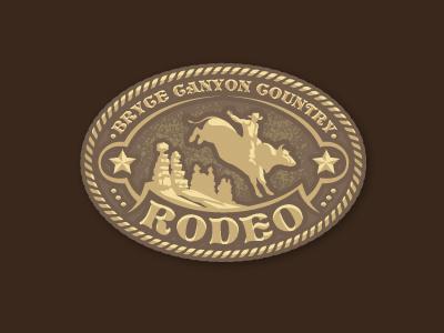 Bryce Rodeo ames jerron logo cowboy bull bryce belt buckle crest rodeo