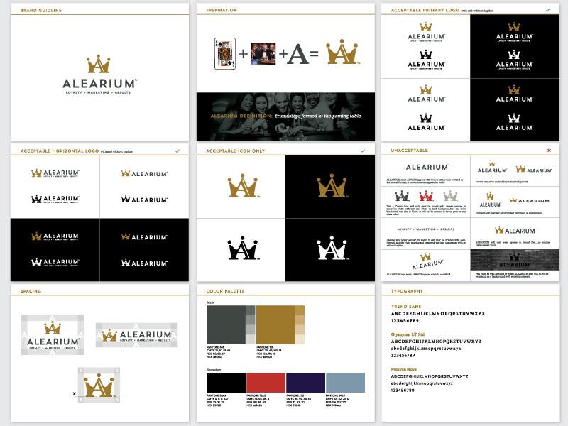 Alearium Logo Guide ames jerron logo branding style guide
