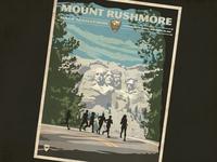 Mt. Rushmore half marathon poster