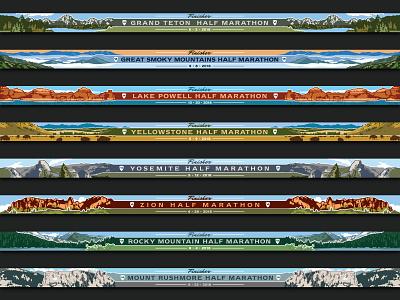 Medal Ribbons marathon ribbons scenery national parks