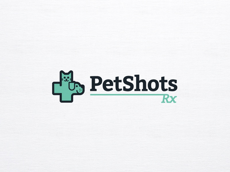 PetShotsRX logo care medical cat dog pet