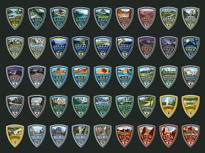 Vacation Races badges/medals races marathon scenic illustrative medals badges logos