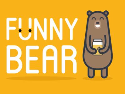 Funny bear with a jar of honey