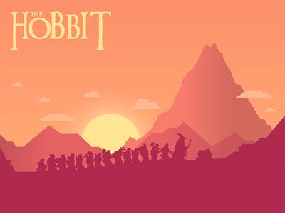 The Hobbit world fantasy mountain lonely dwarves illustration hobbit
