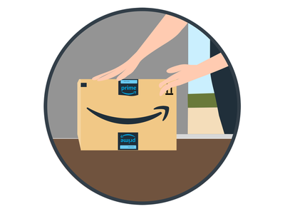 In Garage Delivery Icon amazon sketch illustration illustrator