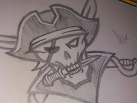 Pirate Mascot logo Sketch