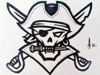 Pirate Mascot logo Inked