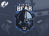 Viking Bear Mascot Logo