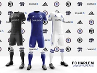 FC Harlem 2016 Kits – Front and side views