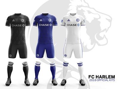 FC Harlem 2016 Kits –Front views football chase uft adidas chelesafc chelsea uniforms soccer-kits kits jersey soccer fcharlem
