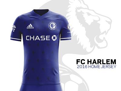 FC Harlem 2016 Kits –Home Jersey football chase uft adidas chelesafc chelsea uniforms soccer-kits kits jersey soccer fcharlem
