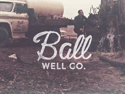 Ball Well Co. vintage logo family well co company