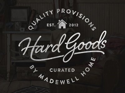 Hard Goods hard goods design typography text branding vintage furniture home distress