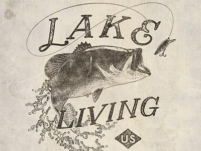 Lake Living shirt vintage apparel merch distress lake living bass fishing fish