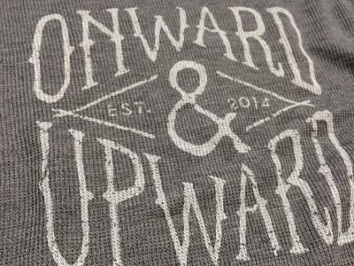 Onward + Upward apparel vintage distress clothing shirt merch printing onward upward
