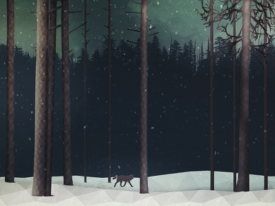 The Long Dark lowpoly illustration game sihlouette vector low poly