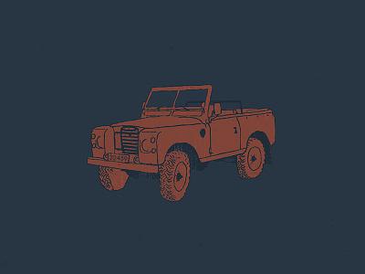 Beach Cruiser summer jeep truck rover land distress vintage apparel t-shirt cruiser beach illustration