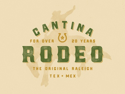 YeeHaw type texture distress tacos mexican rodeo cantina identity logo branding