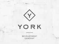 YORK Co y real estate texture identity development logo branding