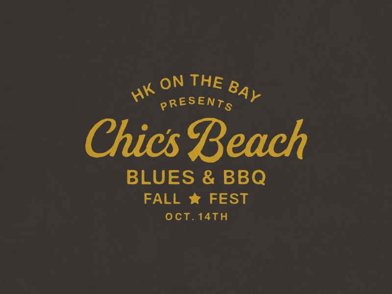 Blues & BBQ type southern beach lockup lettering bbq music blues festival branding