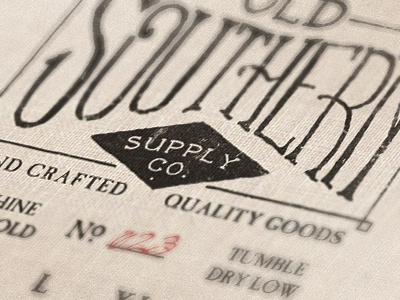 Old Southern Supply old southern supply vintage tag print apparel
