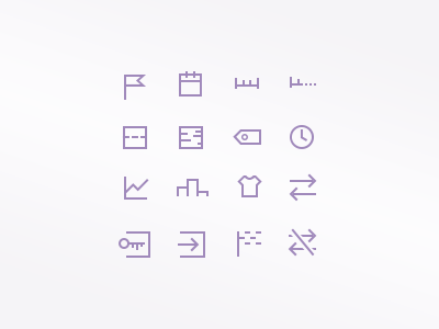 Small icon set – mobile app running sport violet iphone app set icon