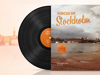 Voices of Stockholm lp vinyl paper cover voices stockholm