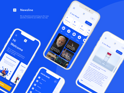 Newsline - A News App adobe xd design first design uidesign app ux  ui ux design